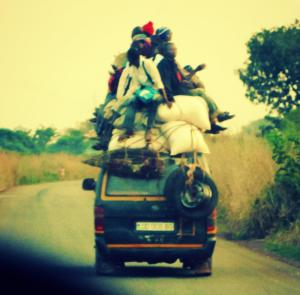 Centralafrican public transport for long distances.